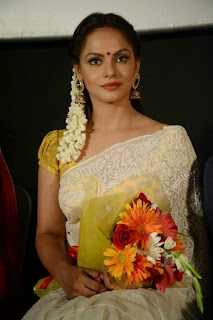 ActressNeetu Chandra Latest Pictures in Saree at Thilagar Audio Launch  0016.jpg