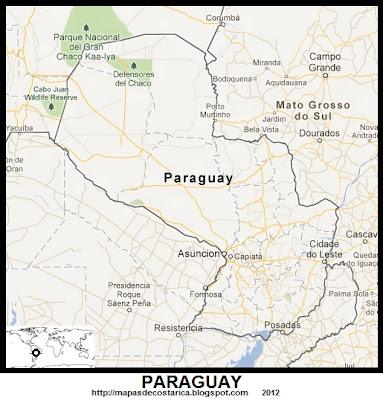Mapa de PARAGUAY, Google Maps