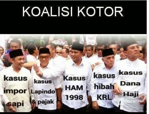 Koalisi Kotor Pendukung Prabowo