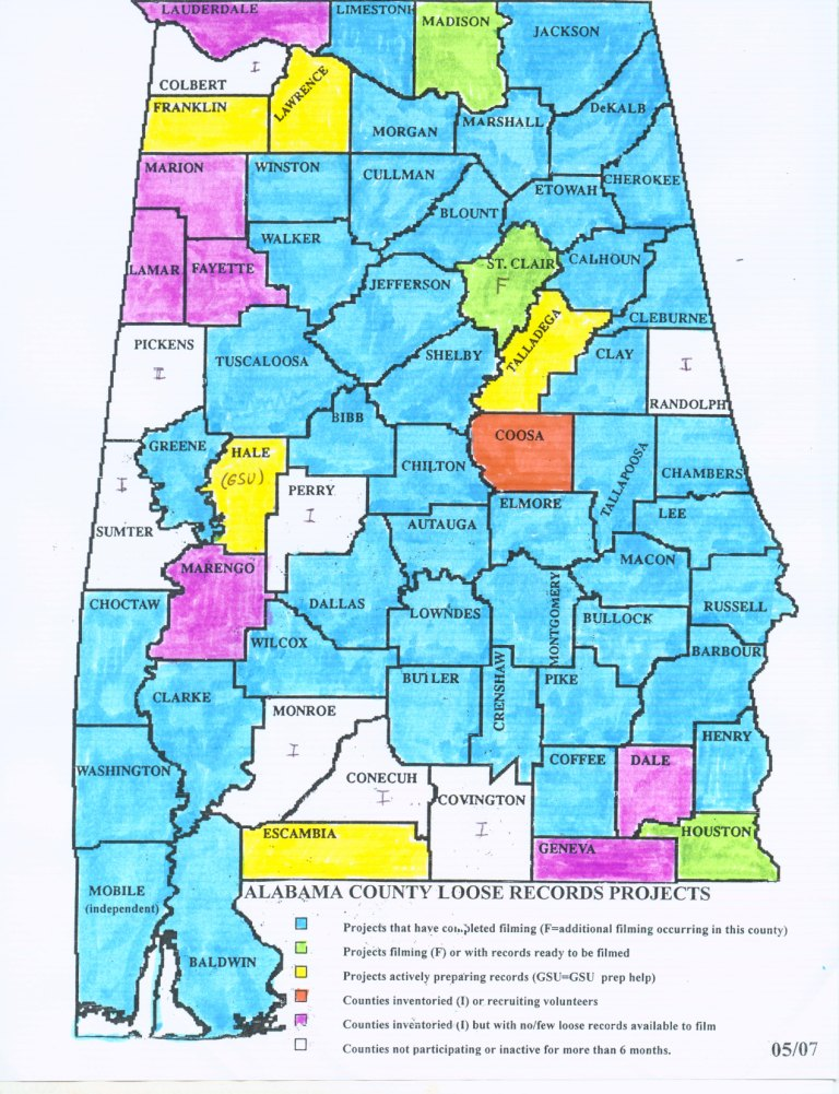 Alabama County Map City  County Map Regional City