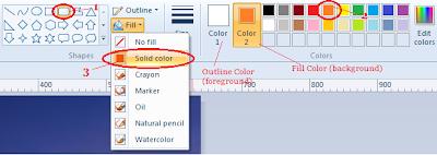 kreasi anotasi teks membuat watermark dengan ms paint