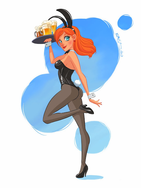 pinup cartoon girl