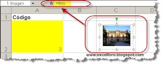 Cómo asociar una imagen al valor de una celda en Excel 2003.