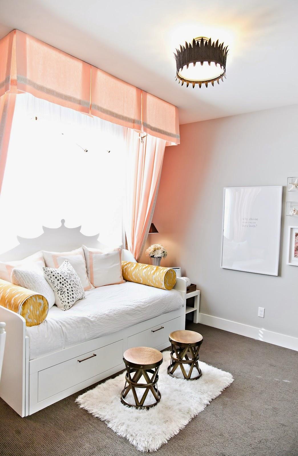 Design Dump Orc Finale A Teen Bedroom In Peach Mustard