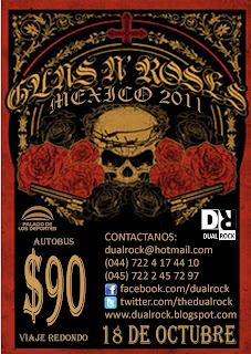 Transporte Toluca - Guns N' Roses 2011