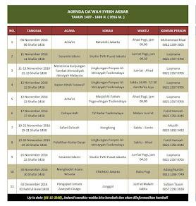 Jadwal Kegiatan Syekh M. Fathurahman M.Ag