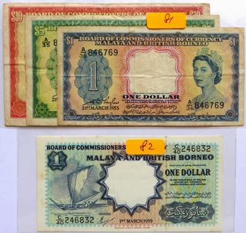 Malaya & British Borneo $1