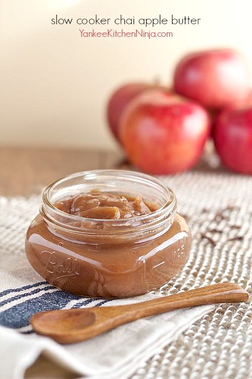 Easy slow cooker chai apple butter