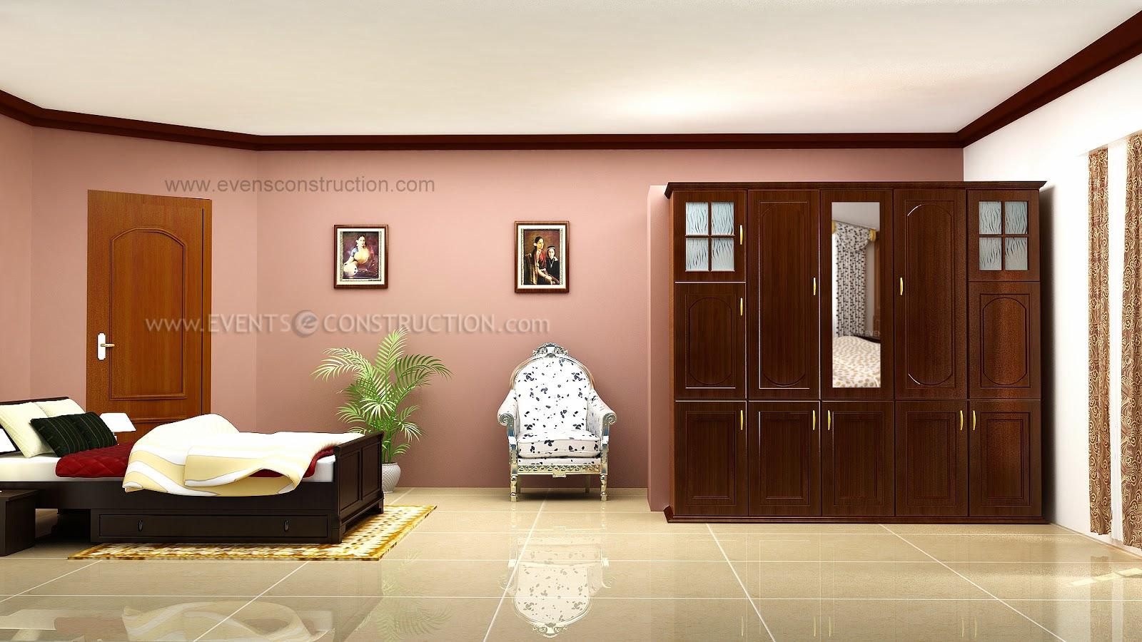 evens construction pvt ltd spacious bedroom interior