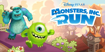Logo showing Mike and Sulley running