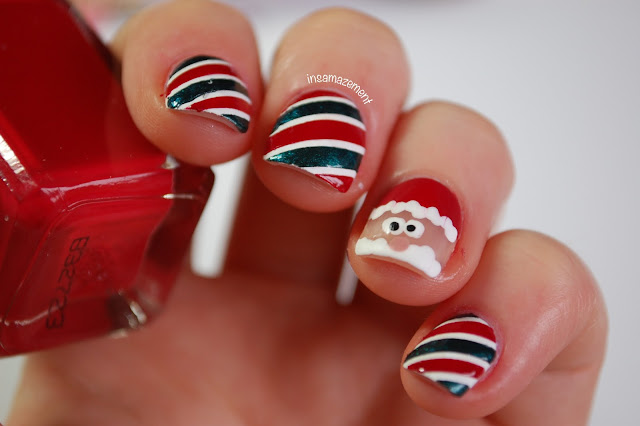 Santa Nail Art Tutorial