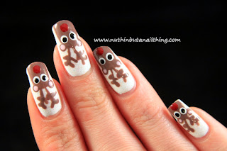 Reindeer Nail Art Tutorial
