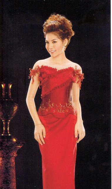 Cambodian dresses khmer actress with red dresses for Cambodian wedding dresses sale