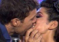 El beso de Marcelo Tinelli y Silvina Escudero