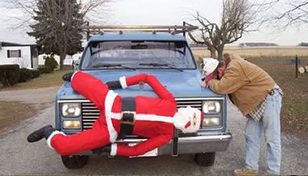 does this one remind you of grandma got run over by a reindeer - Christmas Decorations For Your Car