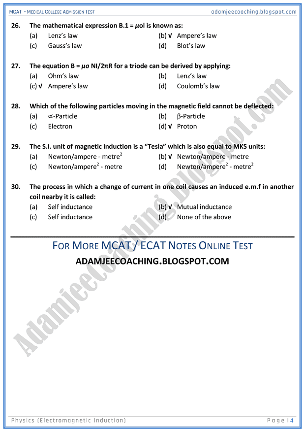 mcat-physics-electromagnetic-induction-mcqs-for-medical-entry-test