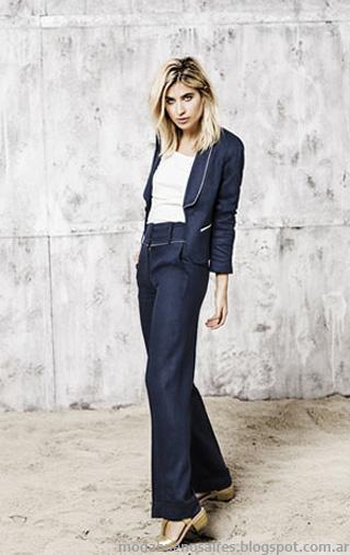 Moda 2014. Paula Cahen D'anvers verano 2014. Moda verano 2014. Trajes de mujer, pantalón y saco.