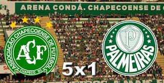 Placar Chapecoense 5x1 Palmeiras