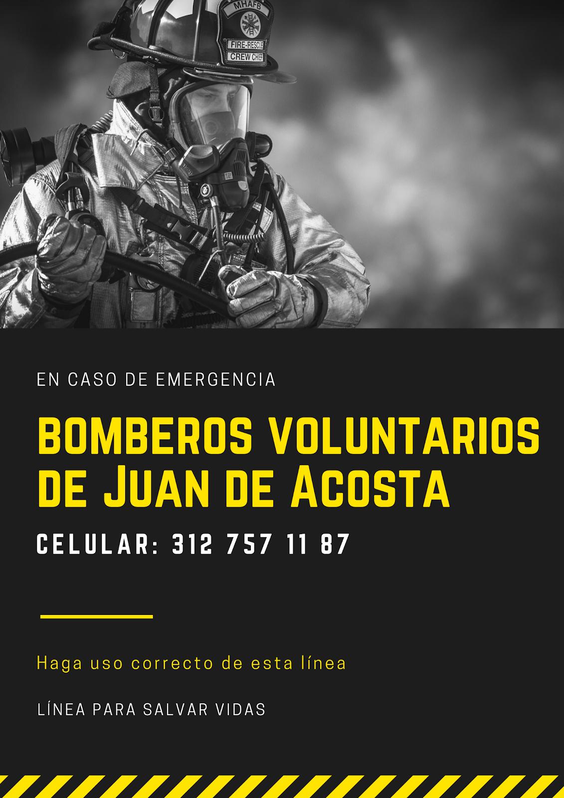 Bomberos de Juan de Acosta