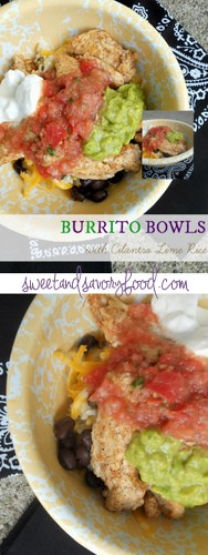 burrito bowls with cilantro lime rice (sweetandsavoryfood.com)