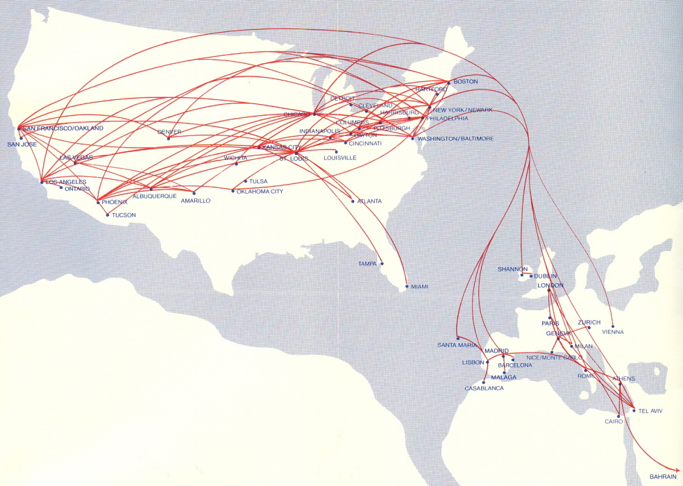 Airlines Past & Present: TWA International Routes 1972 & 1977