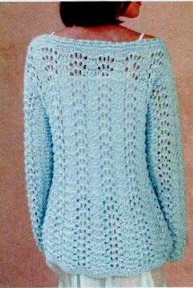 Suéter calado con escote bote