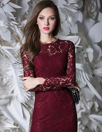 Long Sleeve Round Neck Wrap Lace OL Dress