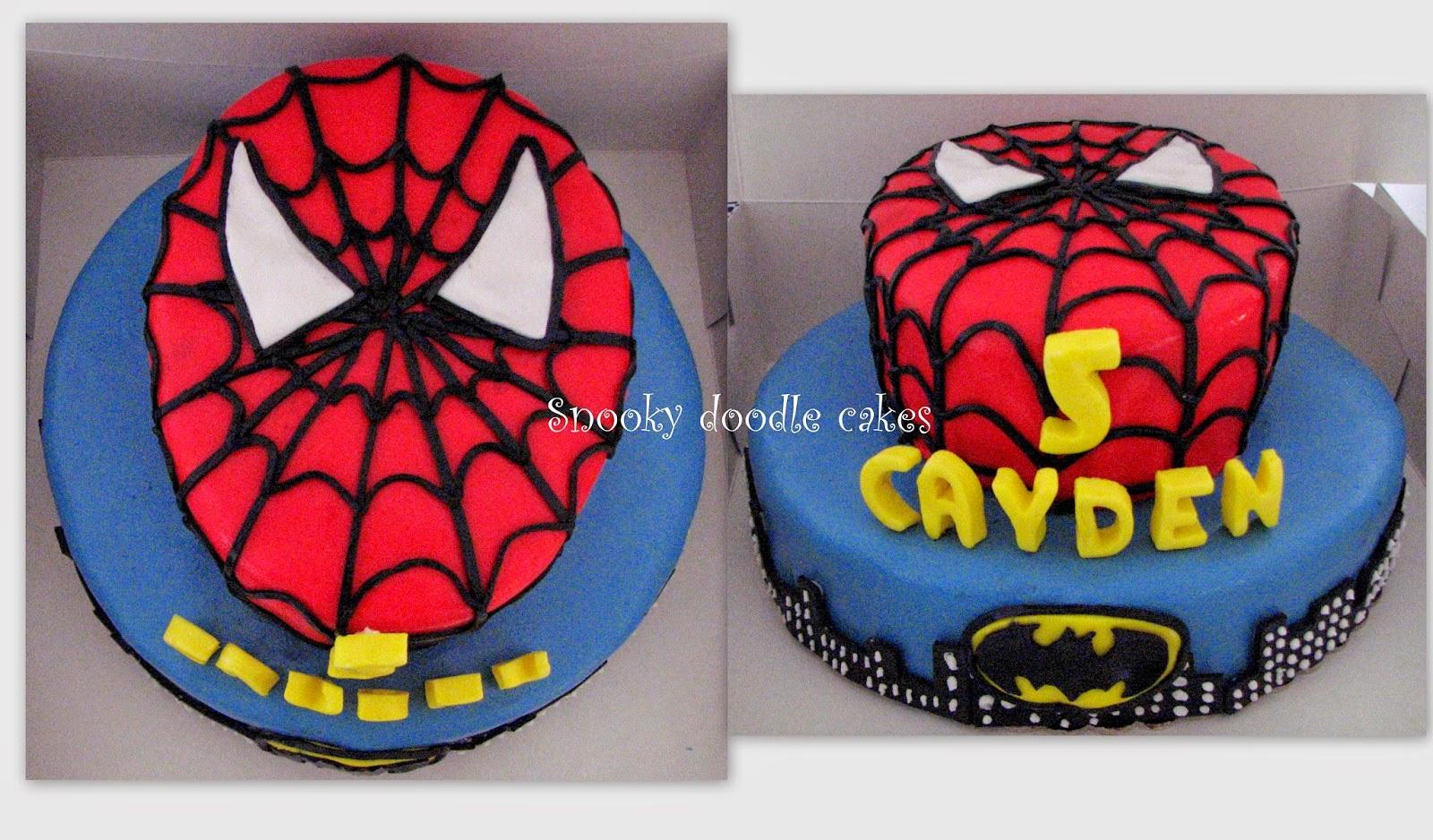 coloring pages batman spiderman cakes - photo#43