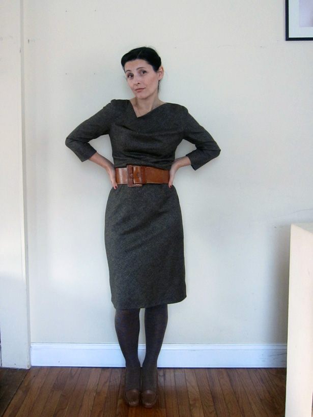 Grey Tweed Dress