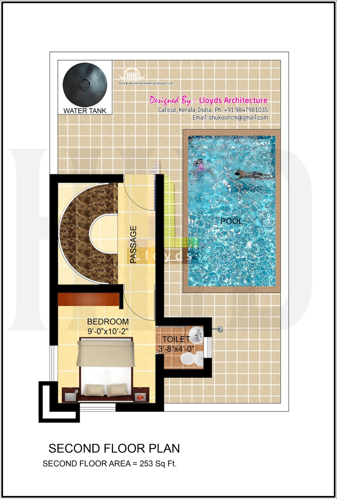 Home plans with pool home designs with pool from homeplans com - 1 Attached Bedroom Swimming Pool Second Floor Plan
