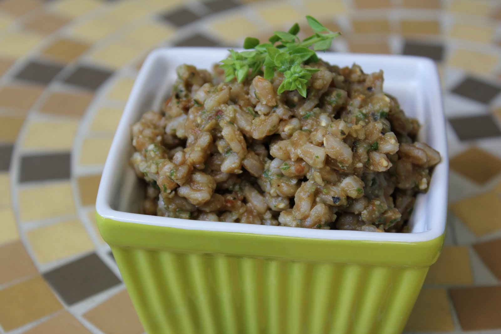 Farro With Roasted Eggplant Pesto Healthy Girls Kitchen