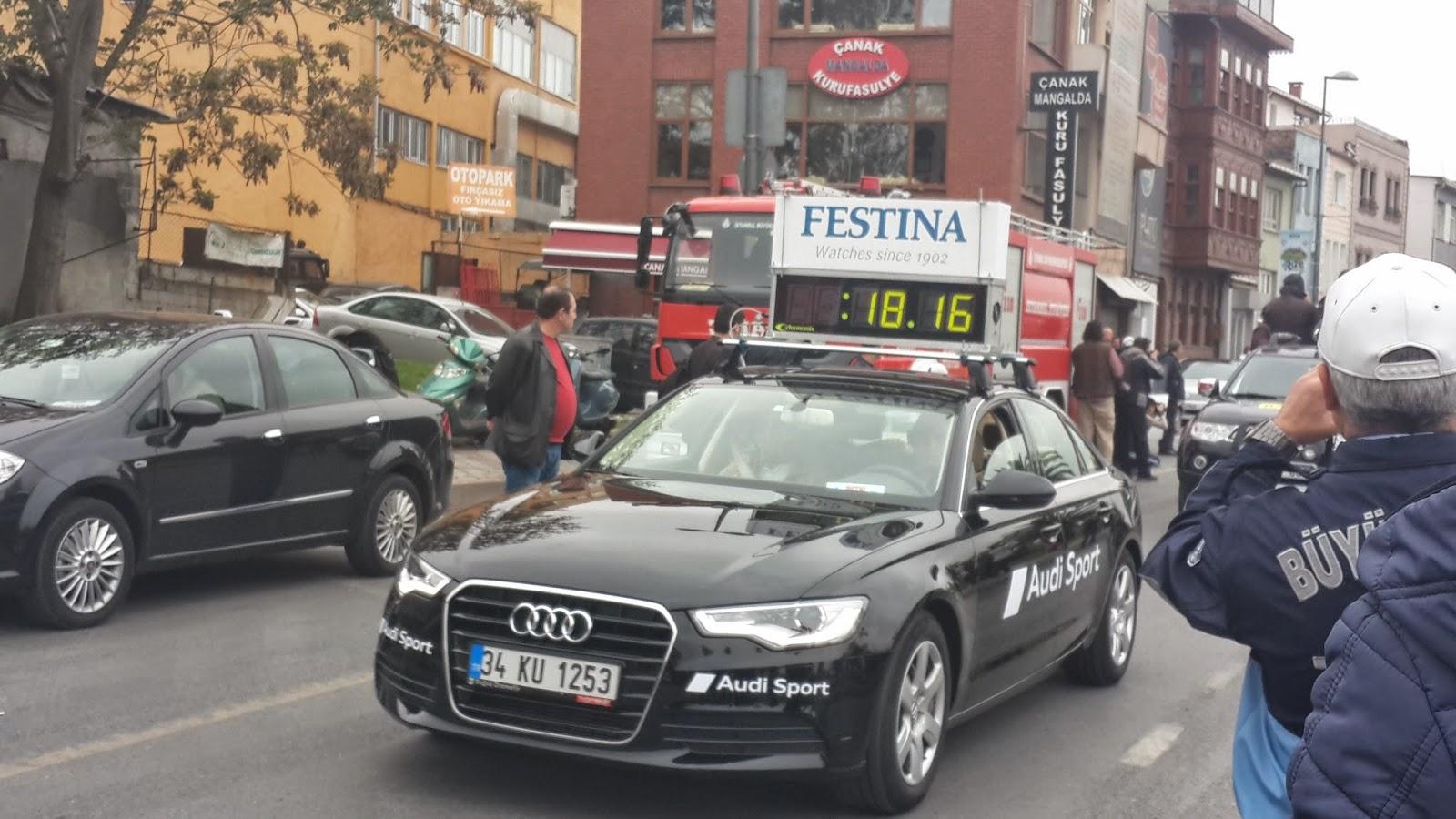 Vodafone Yarı İstanbul Maratonu 2014 Nisan Zaman Sponsoru Festina