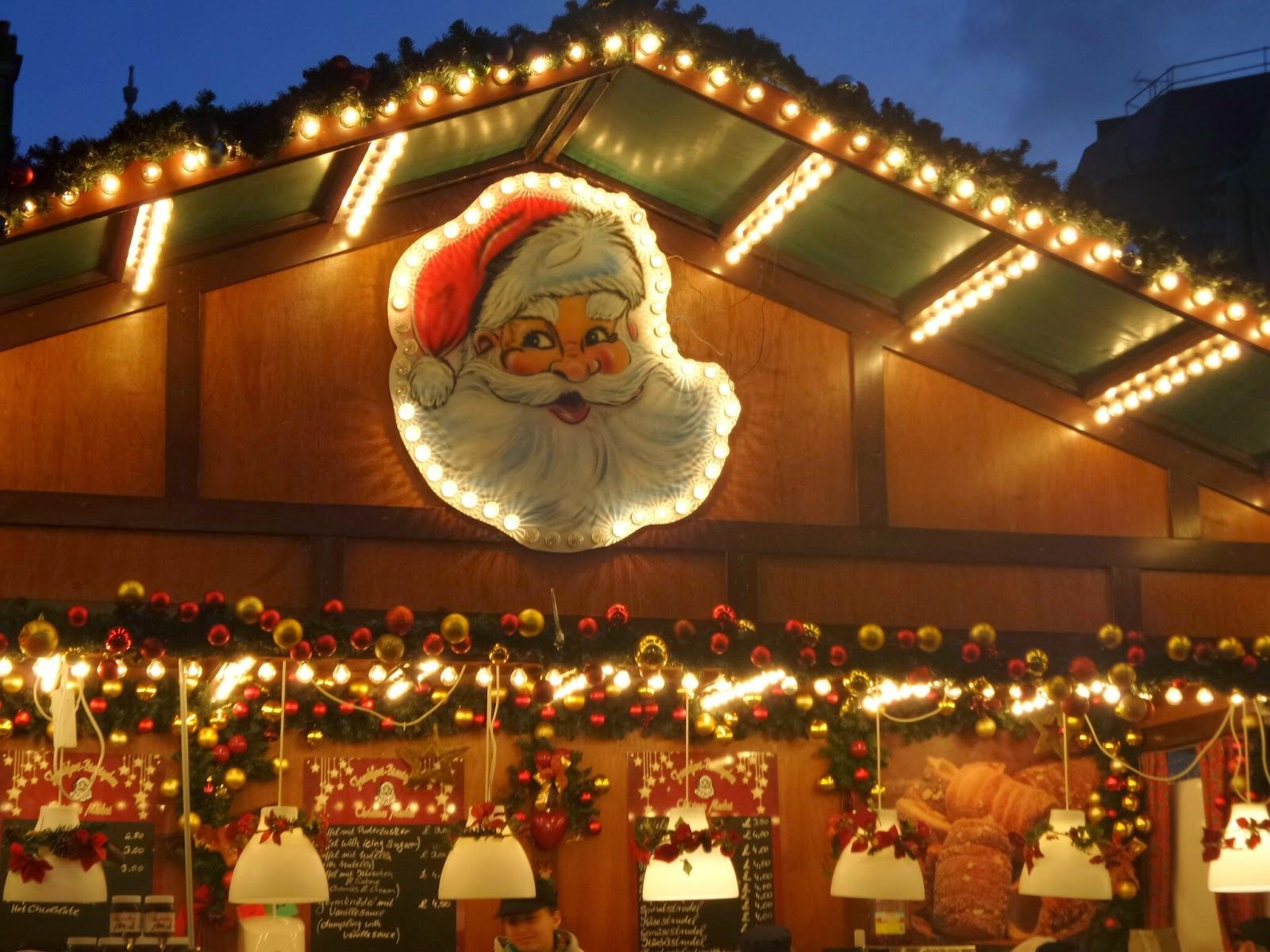 German Christmas Market Stall selling lovely smelling food!