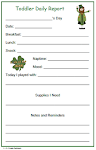 Toddler St. Patricks Daily Form