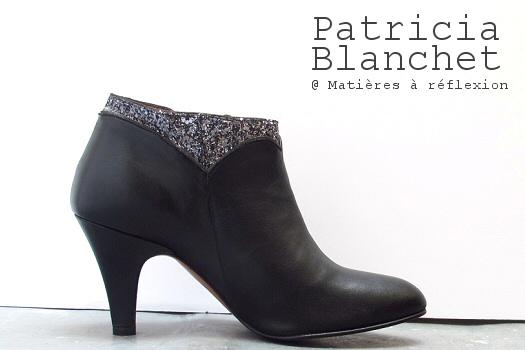 Chaussures Patricia Blanchet bottines cuir noir paillette Kronenberg