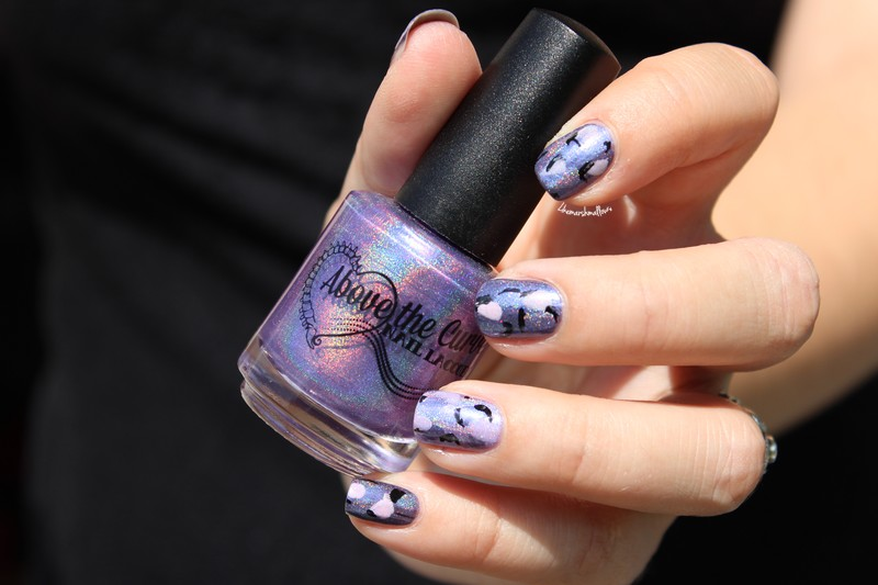 Purple nail art ♥