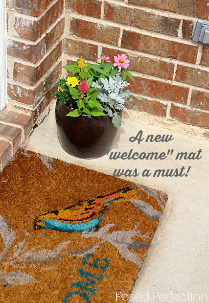 Welcome Mat with Bird