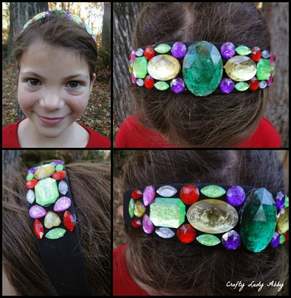 Headwear tutorial gem encrusted headband for Black headbands dollar tree