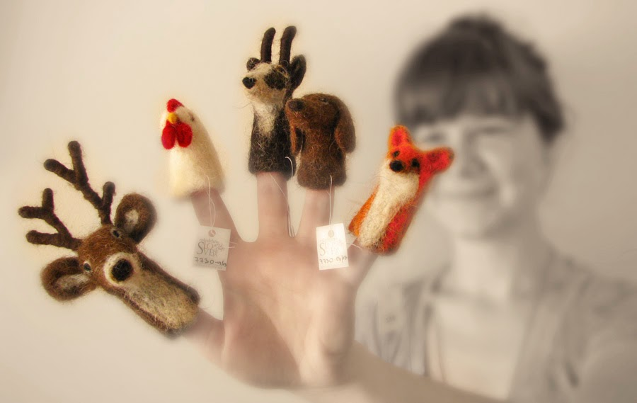 prstne lutke izdelala Karla B. Rihtaršič
