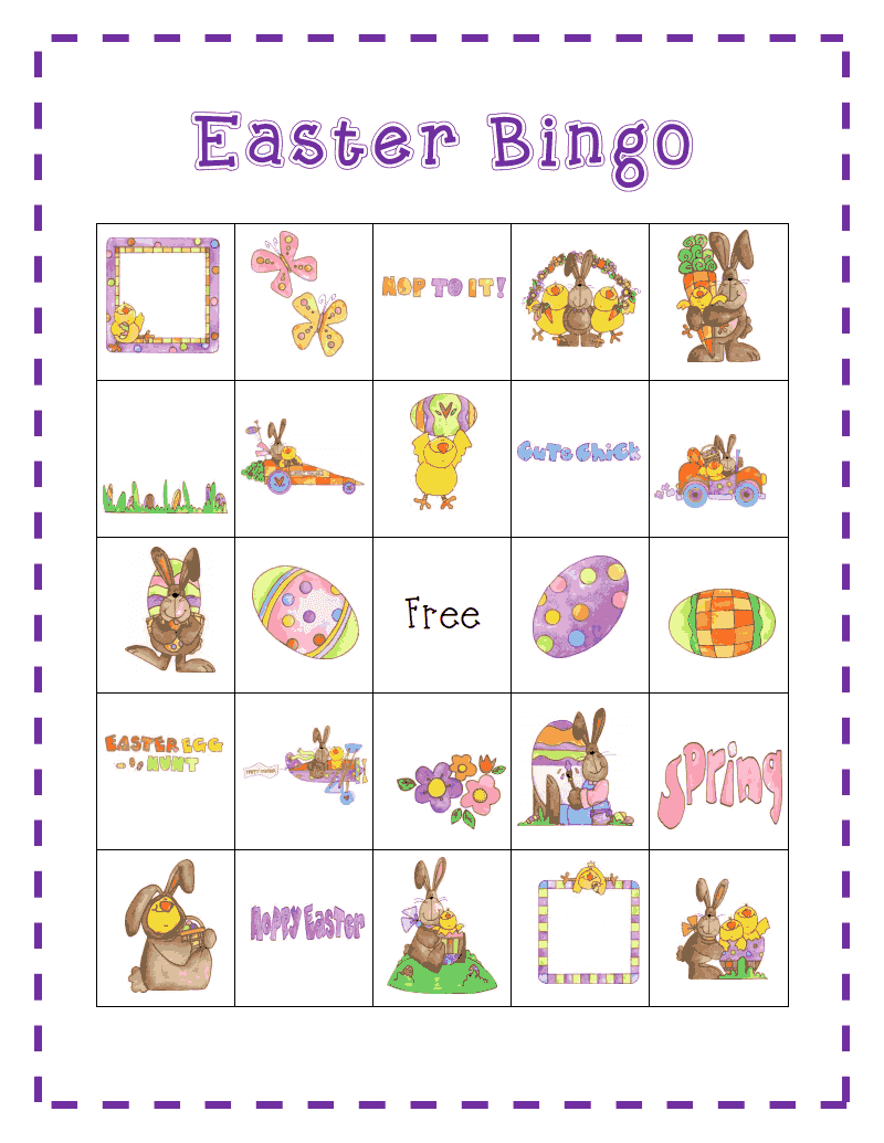 This is a photo of Wild Printable Easter Bingo Cards