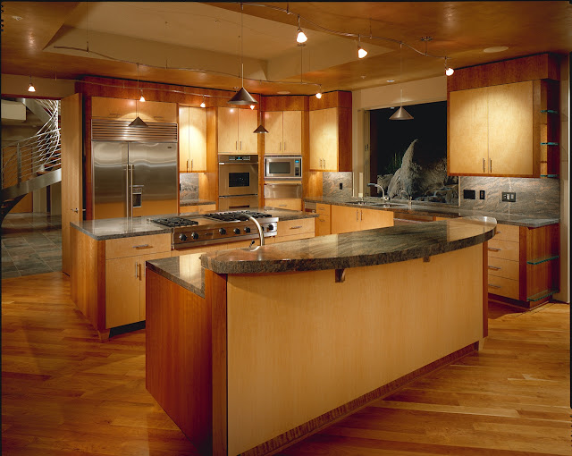 Picture of large modern kitchen in the desert house