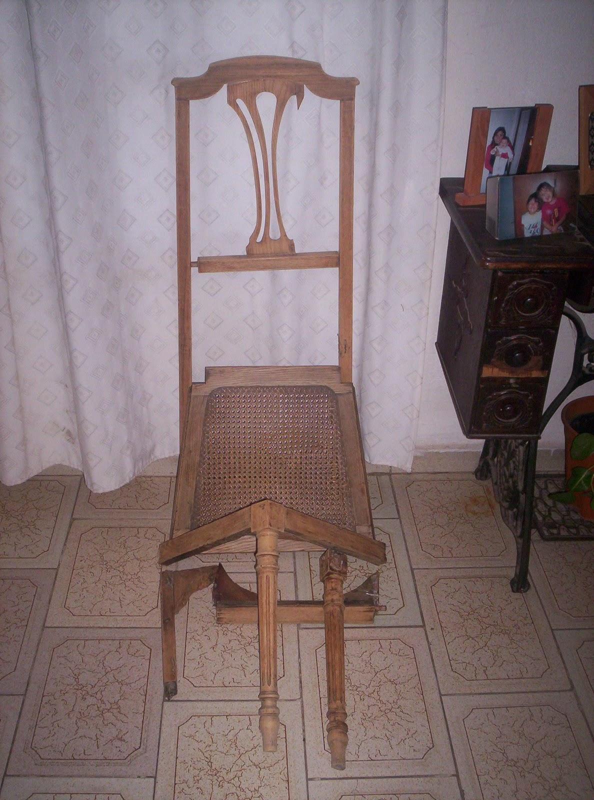Reciclado de sillas y sillones silla en roble con for Reciclado de sillones