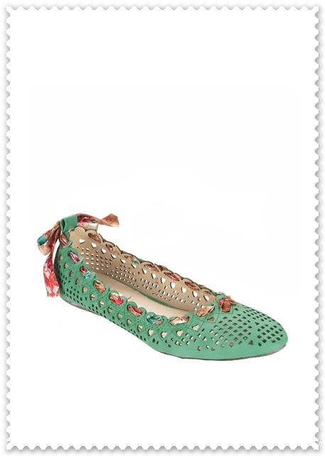 Sole Nice Laser Cut Ballerina Flat, Zalora, Shoes