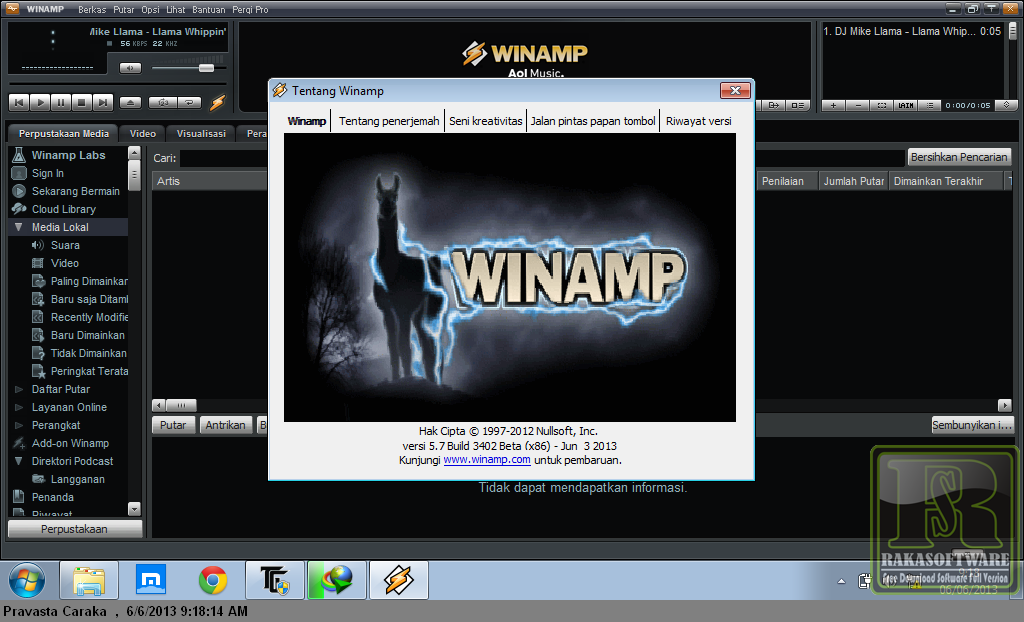 Winamp 5.7 Build 3402 Beta Full Keygen - Screenshot 2