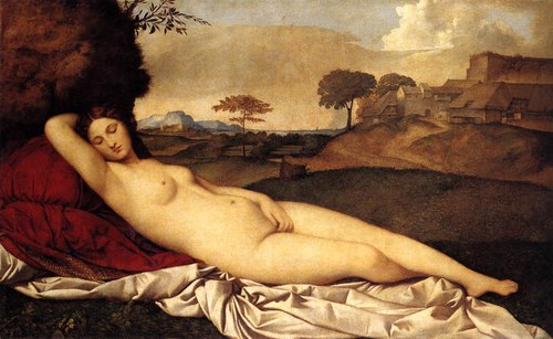 sleeping venus, giogione