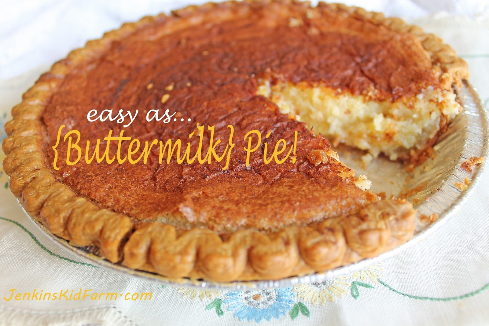 Buttermilk Pie Recipe — Dishmaps