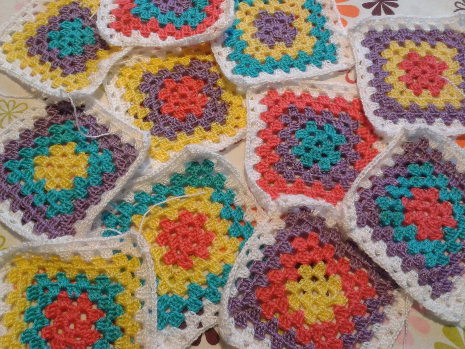 gorongocha manta cuadros crochet granny