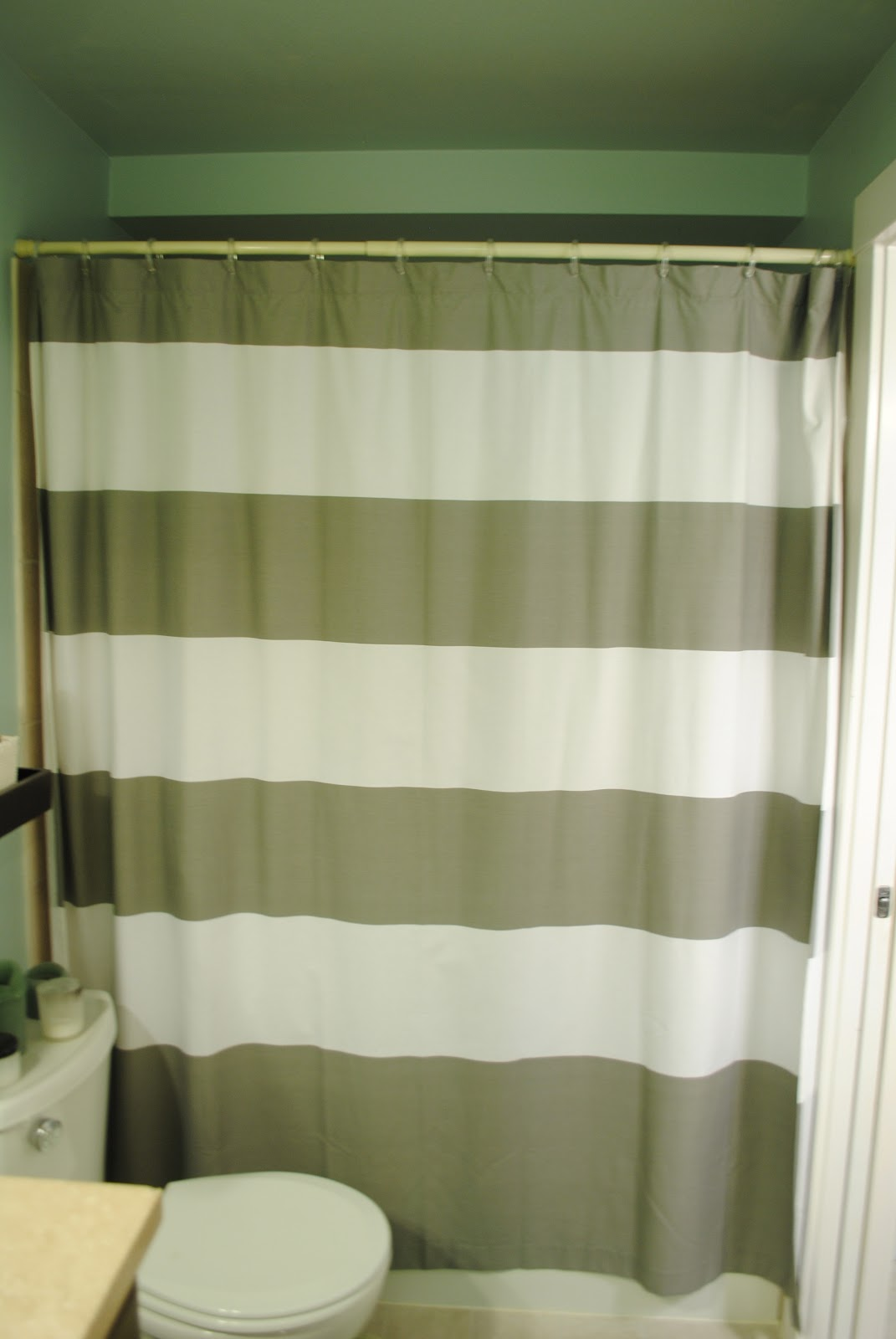 Dark green shower curtains - We Decided To Keep It Even Though I Hate Shower Curtains And It Makes It Really Dark In The Bathroom Worth It Maybe We Ll Get A Light Installed In The