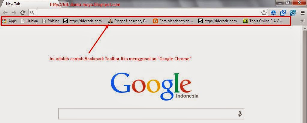 Bookmark Google Chrome
