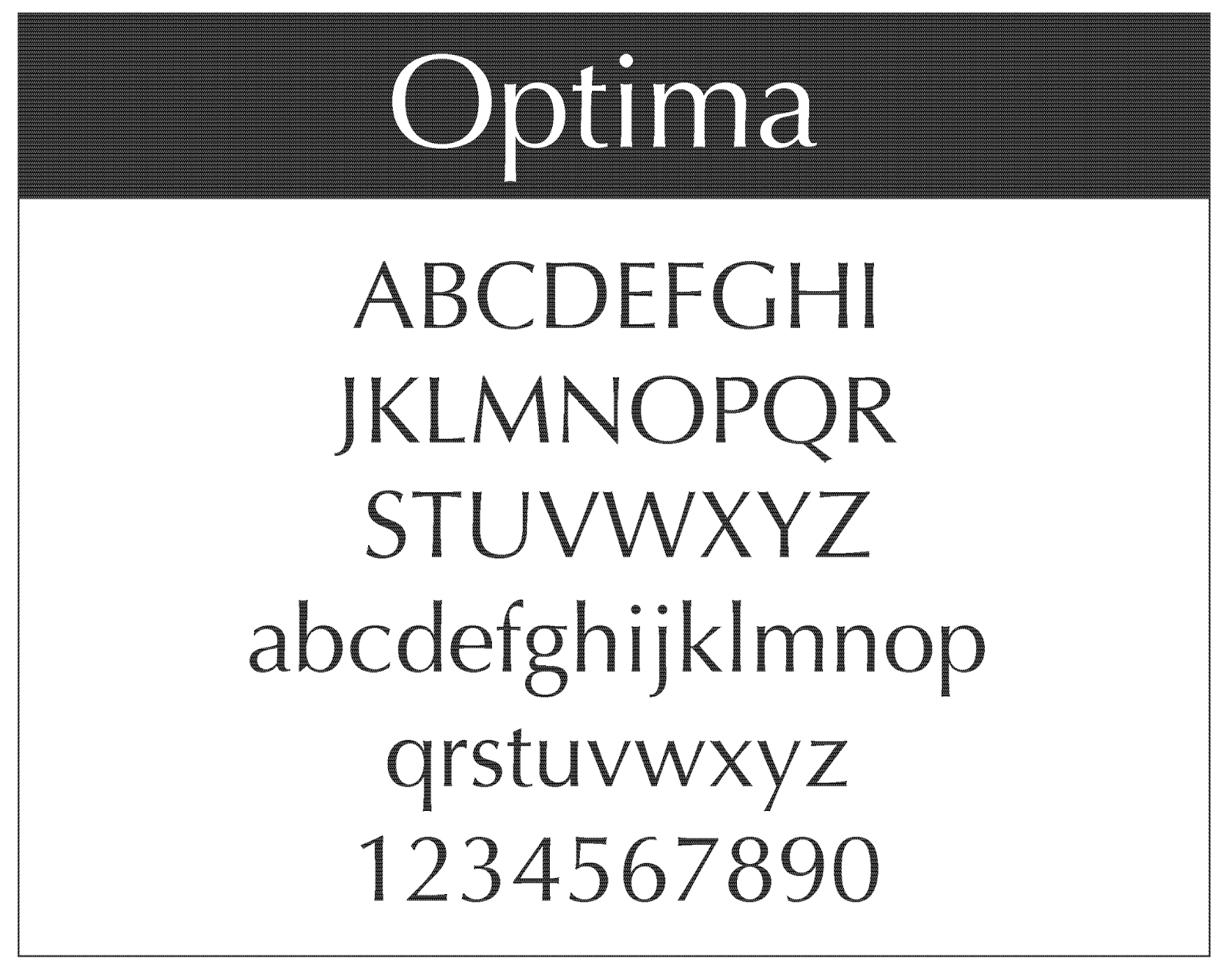 What Da Font - What is the font?: Optima